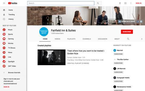 Fairfield Inn & Suites - YouTube - YouTube