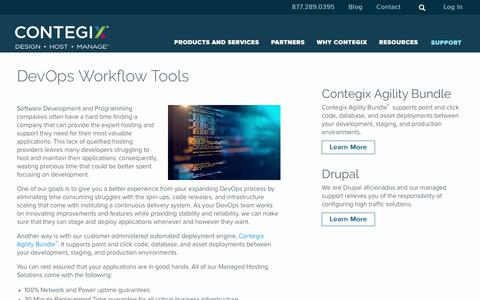 Screenshot of Developers Page contegix.com - DevOps Workflow Tools - Contegix - captured Dec. 5, 2018