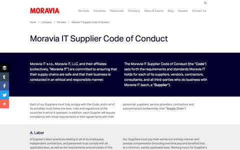 Moravia IT Supplier Code of Conduct - Moravia