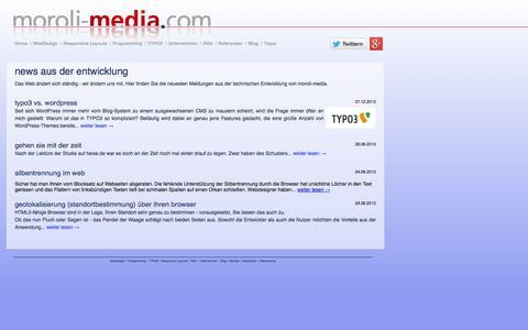 Screenshot of Press Page moroli-media.com - News ■ moroli-media, Kempten - captured Oct. 26, 2014