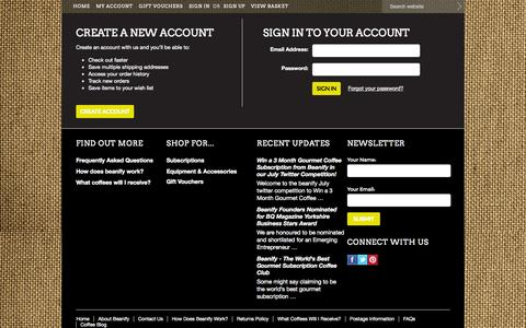 Screenshot of Login Page mybigcommerce.com - beanify - Sign in - captured Sept. 18, 2014