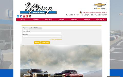 Screenshot of Services Page uftringchevy.com - Uftring Chevrolet in Washington IL | Chevy Dealer Near Peoria | Used Car Dealer - captured Feb. 22, 2016