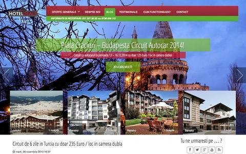 Screenshot of Blog hoteldeals.ro - Hotel Deals - captured Oct. 3, 2014