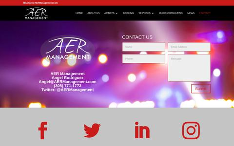 Screenshot of Contact Page aermanagement.com - Contact - AER Management - captured Nov. 6, 2018