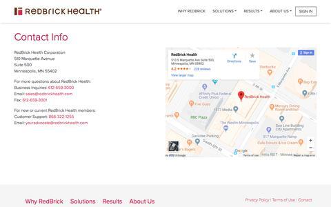 Contact Info - RedBrick Health