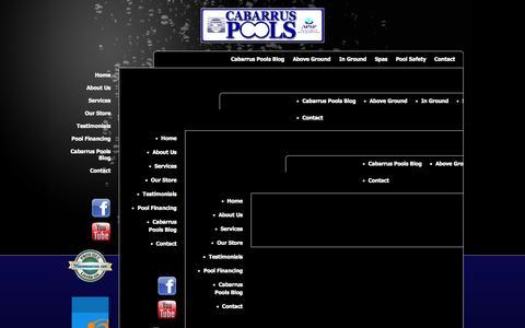 Screenshot of Site Map Page cabarruspools.com - Cabarrus Pools - Cabarrus Pools - captured Sept. 26, 2014