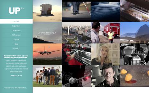Screenshot of Home Page uprhproduction.com - UP RH Production | Valorisation du capital humain dans l'entreprise - captured Dec. 20, 2015