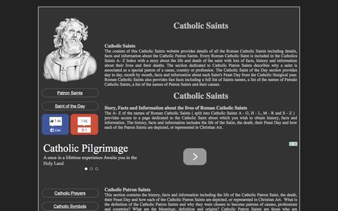 Screenshot of Home Page catholic-saints.info - CATHOLIC SAINTS - captured June 18, 2015