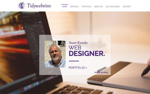 Screenshot of Home Page tidywebsites.co.uk - 2018-tw4u-1 - captured Jan. 12, 2018