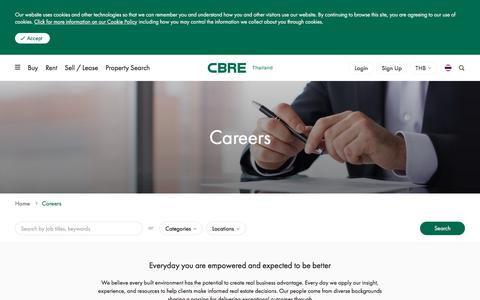 Screenshot of Jobs Page cbre.co.th - Job Opportunities - Property Management | Career - CBRE Thailand | CBRE Thailand - captured Aug. 9, 2019