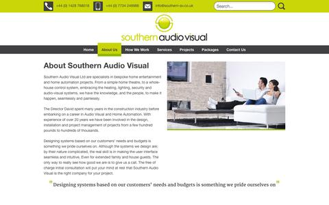 Screenshot of About Page southern-av.co.uk - About Us | Southern Audio Visual - captured Nov. 4, 2014