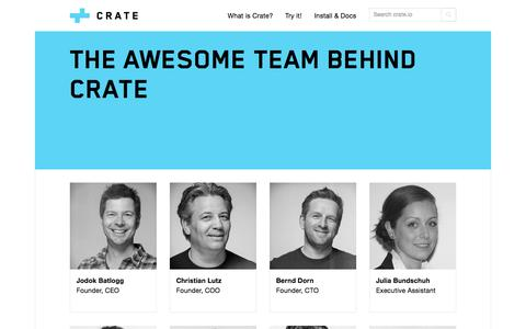 Screenshot of Team Page crate.io - Team   Crate - captured June 16, 2015