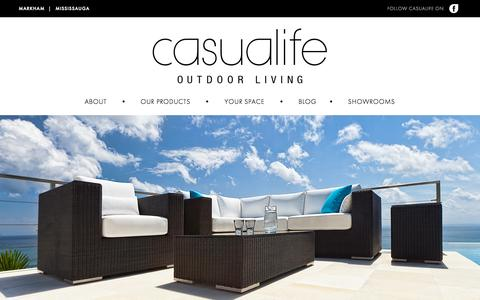Screenshot of Home Page casualife.ca - Casualife Outdoor Living (Patio Furniture) - captured Oct. 2, 2014