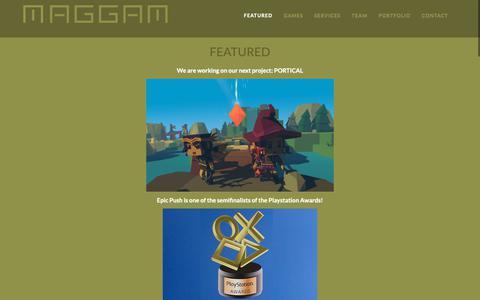 Screenshot of Home Page maggam.com - Maggam Games - captured Nov. 12, 2018