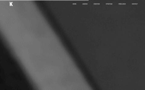Screenshot of Home Page agence-k.com - Agence K - captured Sept. 30, 2014