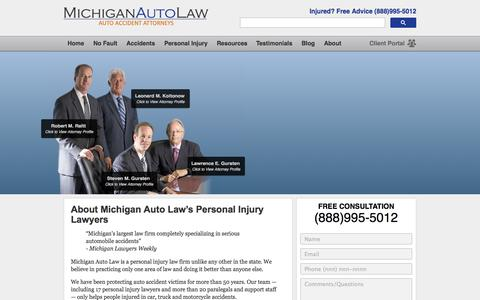 Screenshot of About Page michiganautolaw.com - About Michigan Auto Law - captured Oct. 27, 2014