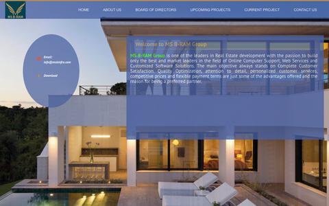 Screenshot of Home Page msbinfra.com - MS B-RAM Group - captured Oct. 4, 2014