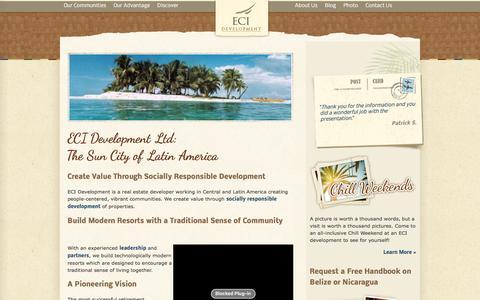 Screenshot of About Page ecidevelopment.com - About ECI Development - captured Jan. 22, 2016