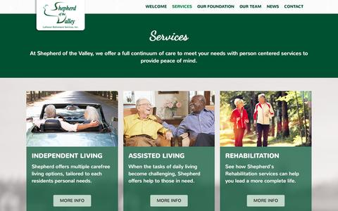 Screenshot of Services Page Locations Page shepherdofthevalley.com - Services – Shepherd of the Valley - captured June 18, 2016