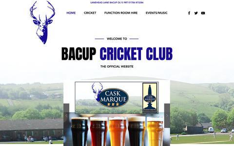 Screenshot of Home Page bacupcc.com - Cricket Club | Bacup | Bacup Cricket Club - captured Oct. 4, 2018