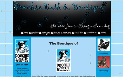 Screenshot of Products Page poochiebath.com - Poochie Bath and Boutique - captured Sept. 28, 2018