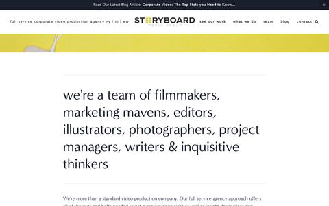Screenshot of Team Page storyboardgroup.com - Team — Storyboard Media Group - captured Nov. 18, 2018