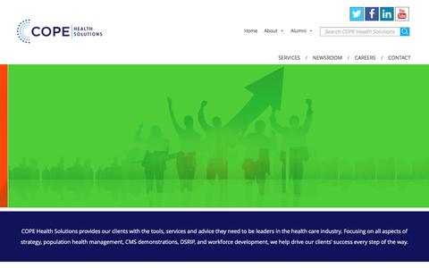 Screenshot of Home Page copehealthsolutions.org - Health Care Management Consulting Company - COPE Health Solutions - captured July 8, 2016
