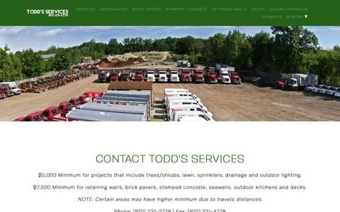 Screenshot of Contact Page toddsservices.com - Contact Us or Request a Quote | Todd's Services - captured Nov. 7, 2018