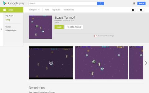 Screenshot of Android App Page google.com - Space Turmoil - Android Apps on Google Play - captured Nov. 3, 2014