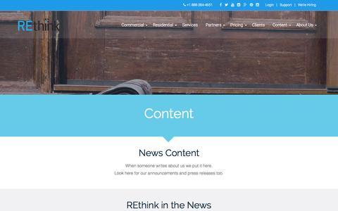 Screenshot of Press Page rethinkcrm.com - News - REthink CRMREthink CRM - captured Nov. 17, 2015