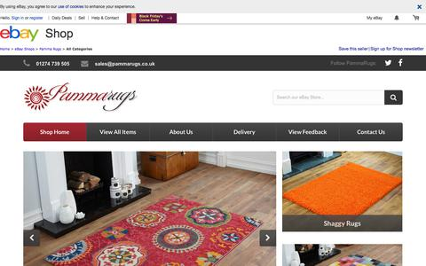 Screenshot of About Page ebay.co.uk - Items in Pamma Rugs store on eBay ! - captured Nov. 20, 2017