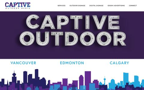 Screenshot of Home Page captiveoutdoor.com - Captive Outdoor Media, Business Signage & Digital Displays - captured Sept. 26, 2018
