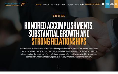 Screenshot of About Page enduranceds.com - About EDS - captured April 26, 2018