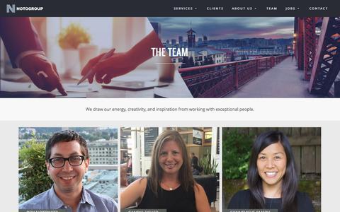 Screenshot of Team Page notogroup.com - Our Team - Notogroup Executive Search - captured Nov. 30, 2016