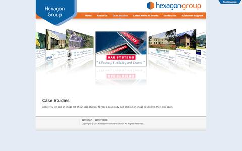 Screenshot of Case Studies Page hexagon.co.uk - Hexagon Software Group - Case Studies - captured Oct. 2, 2014
