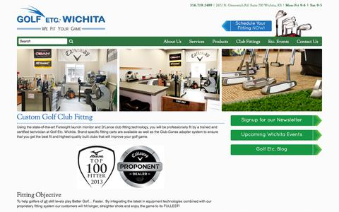 Screenshot of Services Page golfetcwichita.com - Custom Club Fitting-Golf Etc. Wichita - captured Sept. 30, 2014