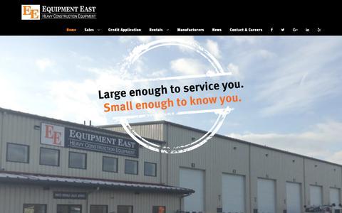 Screenshot of Home Page equipmenteast.com - Home - Equipment East - captured July 19, 2018