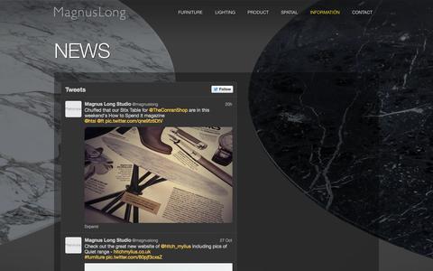 Screenshot of Press Page magnuslong.com - NEWS ‹ Magnus Long - captured Nov. 2, 2014