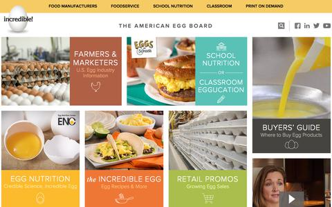 Screenshot of Home Page aeb.org - Home - American Egg Board - captured Dec. 11, 2017