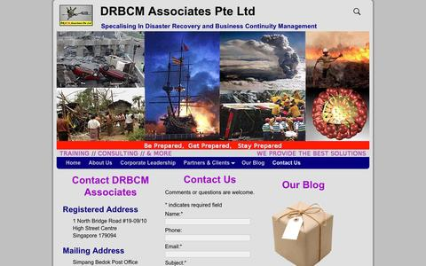Screenshot of Contact Page drbcm-associates.com - Contact DRBCM Associates - DRBCM Associates Pte Ltd - captured Feb. 8, 2016