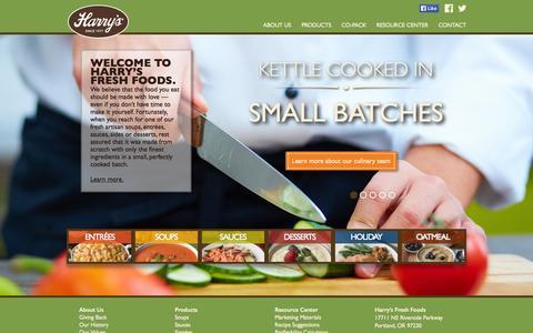 Screenshot of Home Page harrysfresh.com - Home - Harry's Fresh Foods - captured Jan. 23, 2015