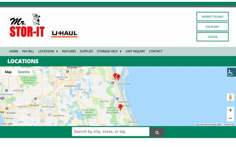 Screenshot of Locations Page mrstorit.com - Locations Archive - MrStorIt - captured Oct. 14, 2018