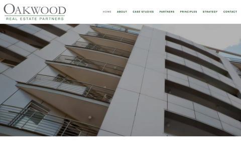 Screenshot of Home Page oakwoodre.com - Oakwood Real Estate Partners - captured Jan. 25, 2016