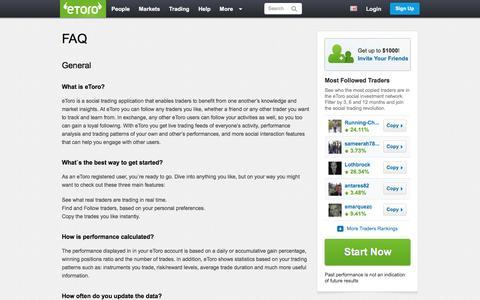 Screenshot of FAQ Page etoro.com - eToro FAQ – Social Investment Explained | eToro - captured June 24, 2016
