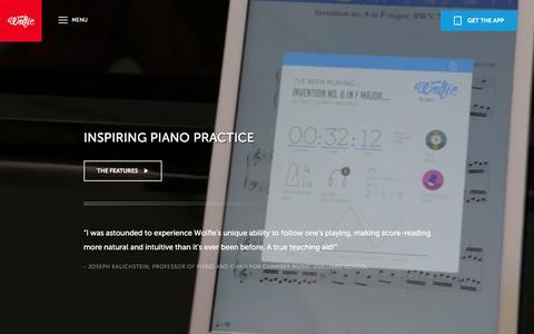 Screenshot of Maps & Directions Page tonara.com - Wolfie for piano app - Tonara and Wolfie for Piano - captured Jan. 25, 2016
