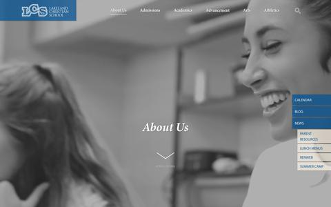Screenshot of About Page lcsonline.org - About Us — Lakeland Christian School - captured July 13, 2017