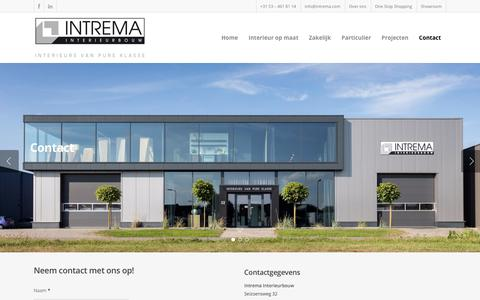 Screenshot of Contact Page intrema.com - Contact | Intrema Interieurbouw - captured Oct. 4, 2017