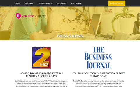 Screenshot of Press Page youtimesolutions.com - Press & News | You Time Solutions - captured Jan. 10, 2016