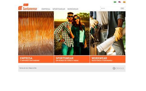 Screenshot of Home Page santanense.com.br - Santanense | Home - captured Oct. 3, 2014
