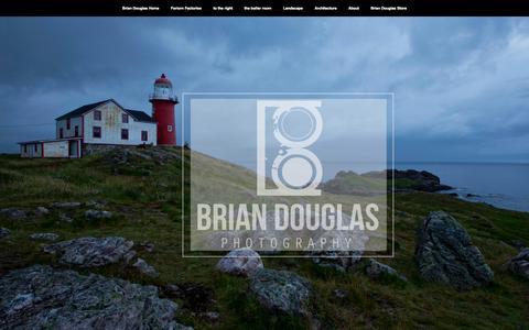 Screenshot of Home Page bdouglasphotography.com - Brian Douglas Home - captured Oct. 5, 2014